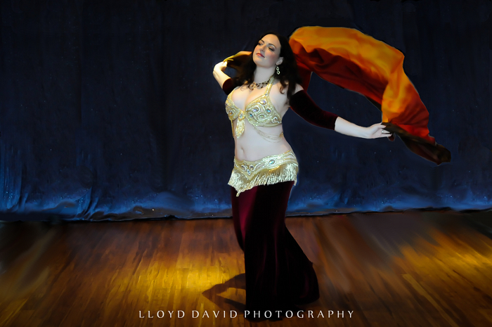 Shushanna in Gold and Burgundy
